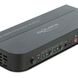 DELOCK HDMI KVM Switch 11481, USB 3.0, Audio, 4K60Hz, μαύρο