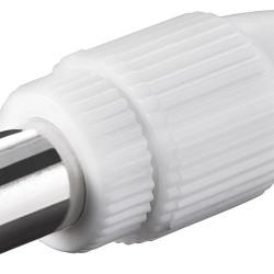 GOOBAY βύσμα coaxial 11501, θηλυκό, λευκό, 10τμχ