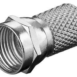 GOOBAY βύσμα τύπου F 11623, αρσενικό, μεταλλικό, 7mm, 10τμχ