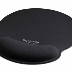 DELOCK Mousepad 12559 με στήριγμα καρπού, 252 x 227mm, μαύρο