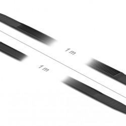DELOCK Δεματικά καλωδίων 18891, 1000x9mm, μαύρο, 10τμχ