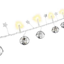 GOOBAY LED λαμπάκια με κουδούνια 57949, 3000K, 1.3m, 5lm, IP20, 10 LEDs