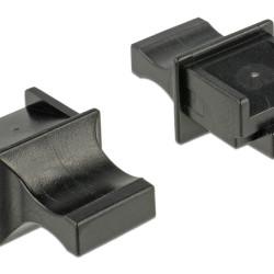 DELOCK κάλυμμα προστασίας για θύρα RJ45 64020, μαύρο, 10τμχ