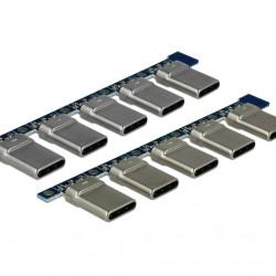 DELOCK Connector USB Type-C Male 65966, 4pin, 10τμχ