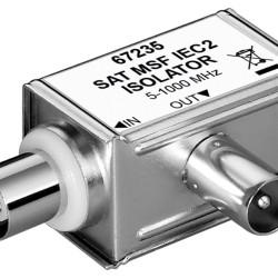 GOOBAY SAT isolator 67235, γωνιακό, 5MHz - 1000MHz, ασημί
