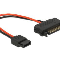DELOCK Cable SATA 15pin σε SATA 6pin, 10 cm