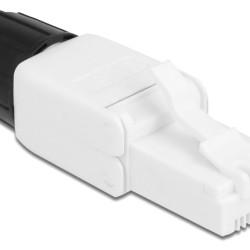 DELOCK βύσμα RJ45 CAT 6 UTP 86977, tool-free, λευκό