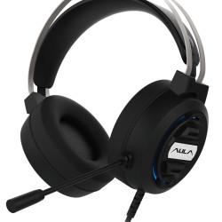 AULA gaming headset Mountain S603, RGB, 3.5mm, 50mm, μαύρο