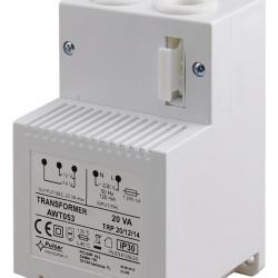 PULSAR μετασχηματιστής AWT053, TRP 20VA/12V/14V, λευκός