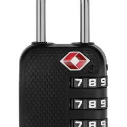 CTECH λουκέτο ασφαλείας συνδυασμού CTL-0007, 28mm, TSA, μεταλλικό, μαύρο
