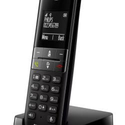 PHILIPS ασύρματο τηλέφωνο D4701B/34, με ελληνικό μενού, μαύρο