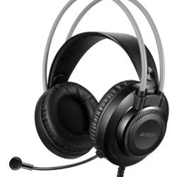 A4TECH Headset FH200U, USB, 50mm ακουστικά, DSP stereo, μαύρα