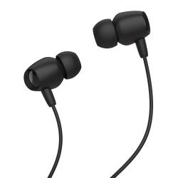 CELEBRAT Earphones Fly 1 με μικρόφωνο, 10mm, 3.5mm, 1.2m, μαύρα