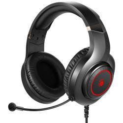 BLOODY Headset G200S, USB, 50mm ακουστικά, HiFi stereo, μαύρα