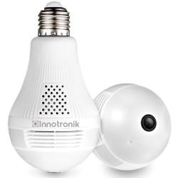 INNOTRONIC λάμπα με ενσωματωμένη κάμερα ICS-R5H, 1080p, Wi-Fi, λευκή