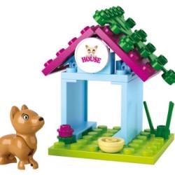 SLUBAN Τουβλάκια Girls Dream, Dog House M38-B0513, 18τμχ