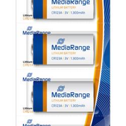MEDIARANGE Μπατ.Lithium CR123A/3V, Pack 5