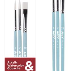 ARTIX PAINTS σετ πινέλων ζωγραφικής PP399-01, μπλε, 3τμχ