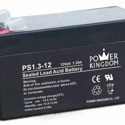 POWER KINGDOM μπαταρία μολύβδου PS1.3-12, 12Volt 1.3Ah
