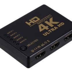 POWERTECH HDMI Amplifier Switch 5 in 1 PTH-052, 4K, 3D, Remote Control